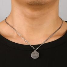 Maenner Halskette mit Metall Anhaenger