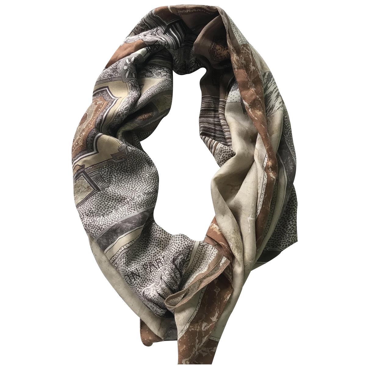Louis Vuitton - Carre   pour femme en cachemire - camel