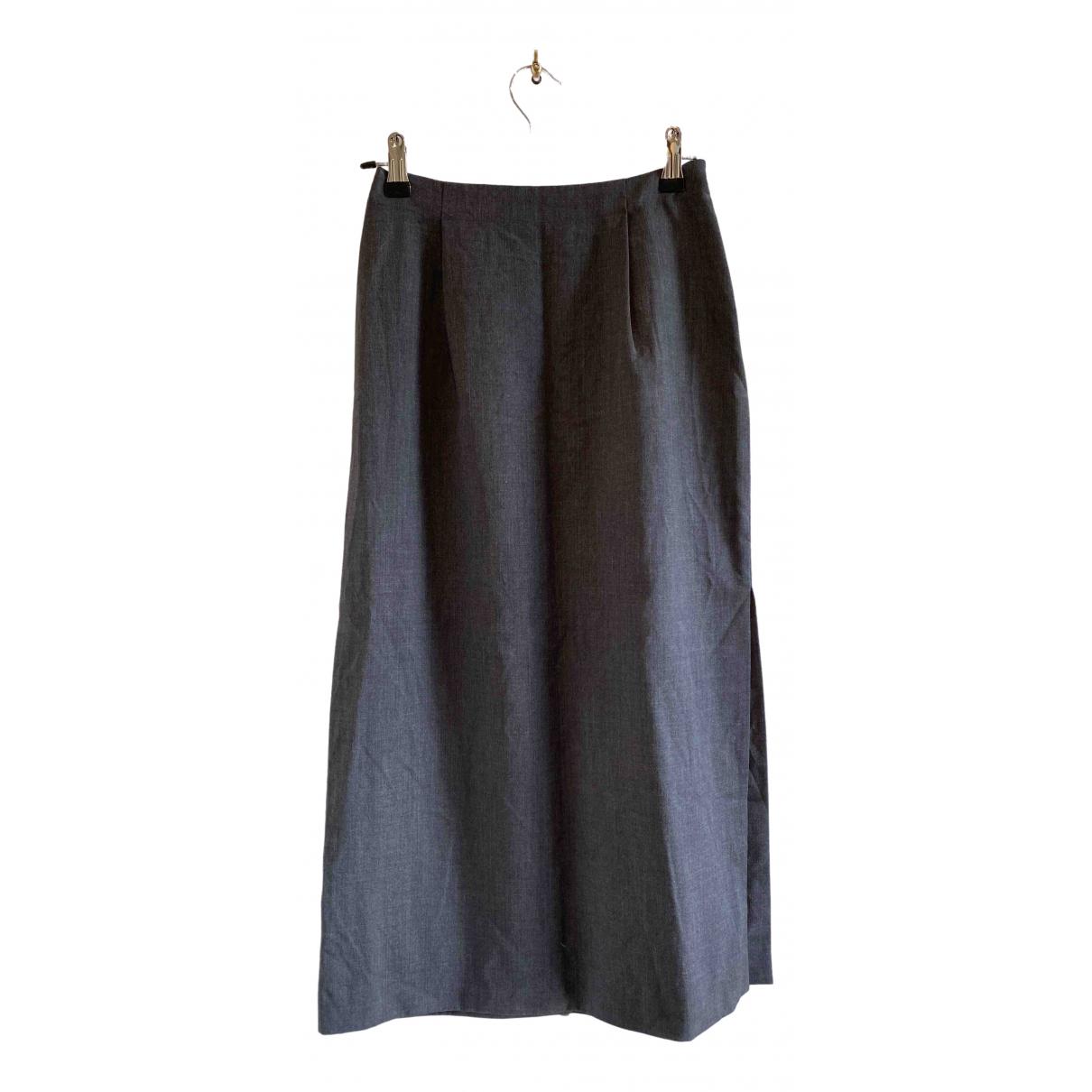 Max Mara \N Grey Wool skirt for Women 38 IT
