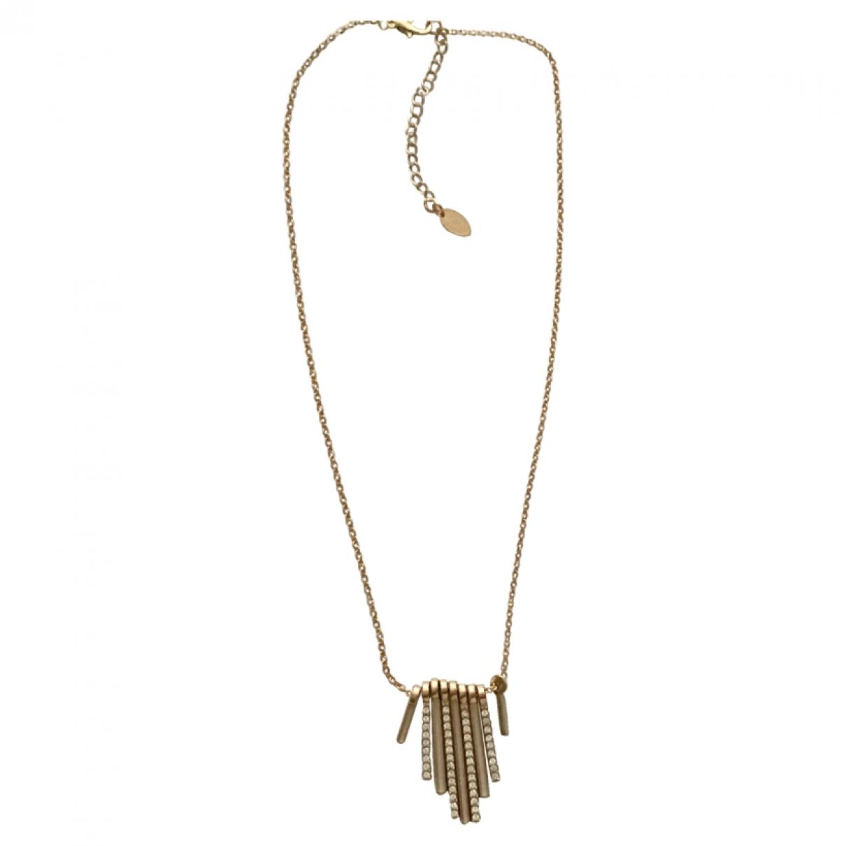 - Collier Chaines pour femme en metal - dore