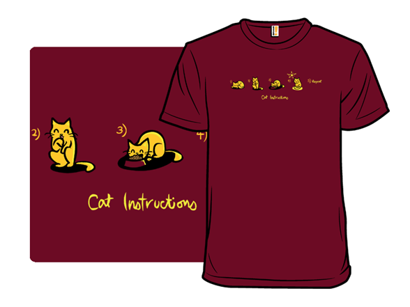 Cat Instructions T Shirt