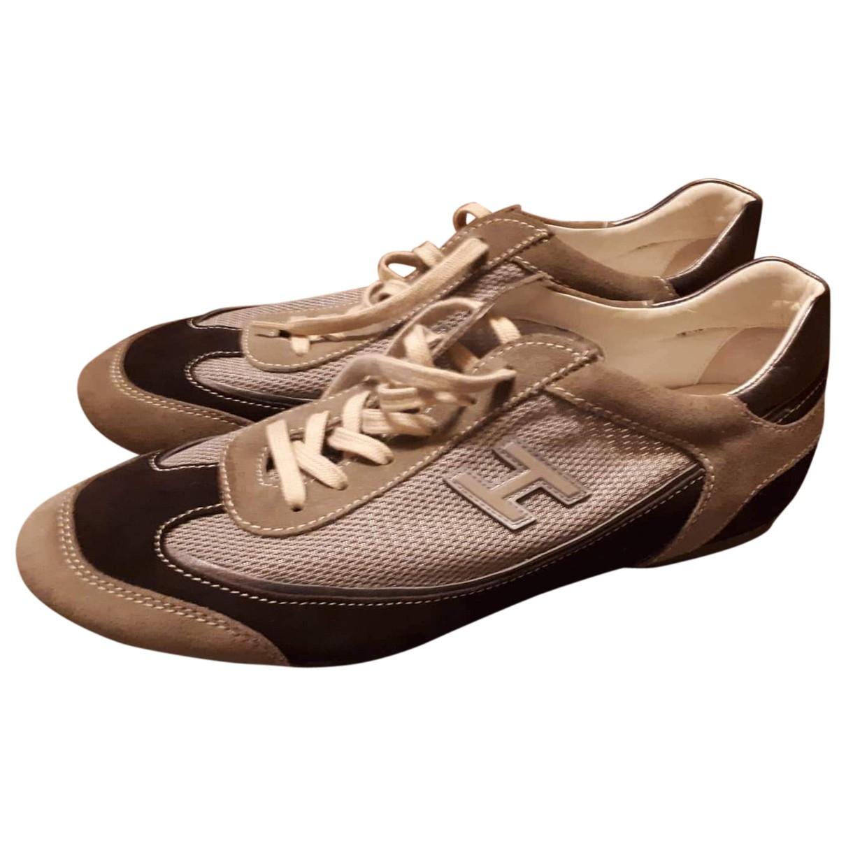 Hogan - Baskets   pour homme en toile - beige