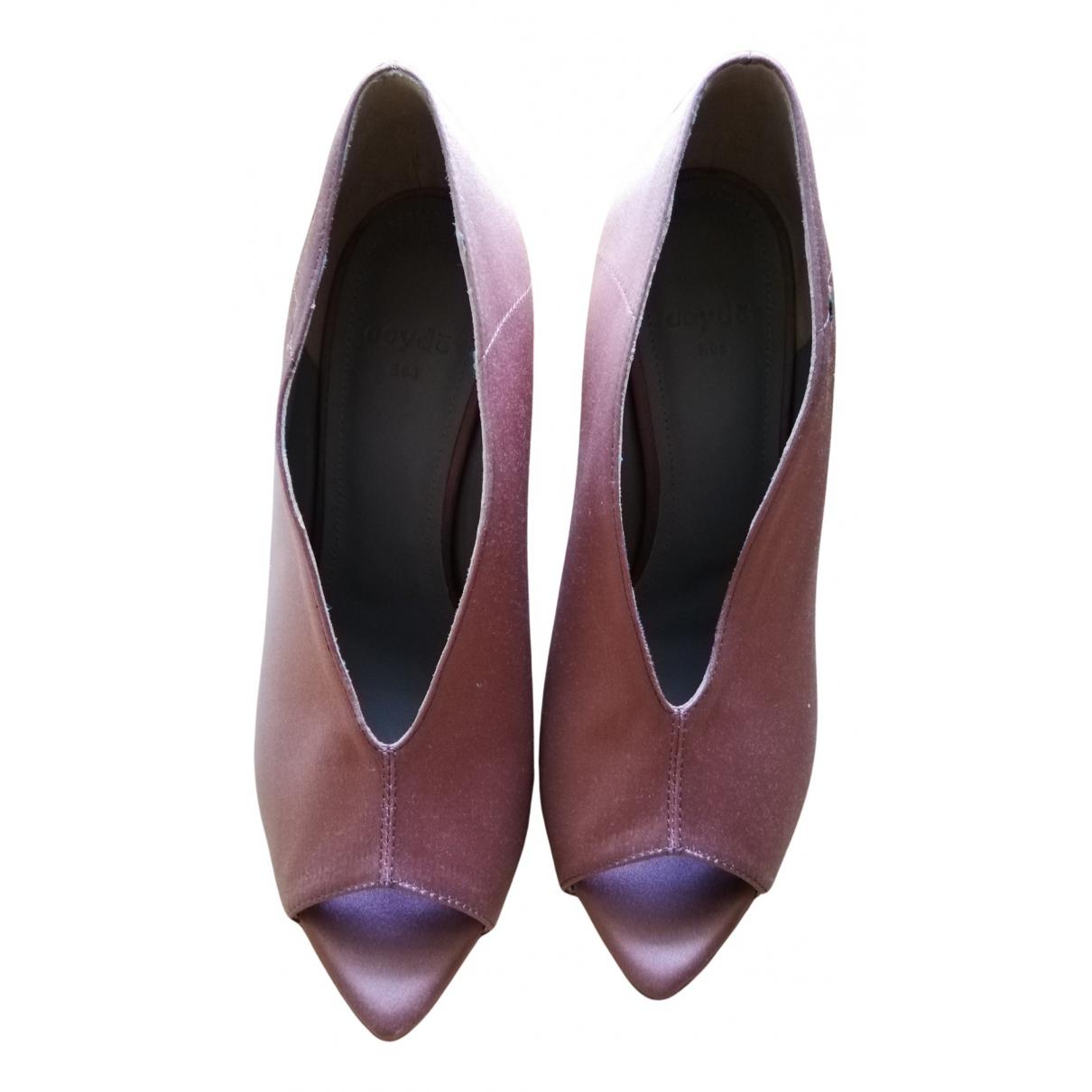 Aeyde N Pink Cloth Heels for Women 37.5 EU