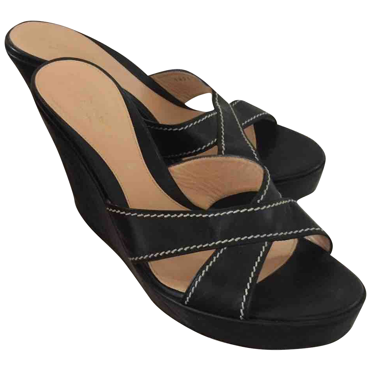 Sergio Rossi \N Black Leather Sandals for Women 40 IT