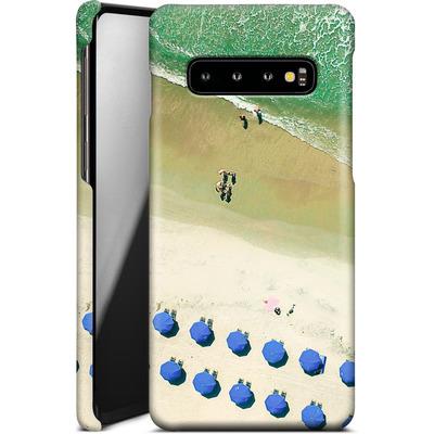 Samsung Galaxy S10 Smartphone Huelle - Beach Umbrellas von Joy StClaire