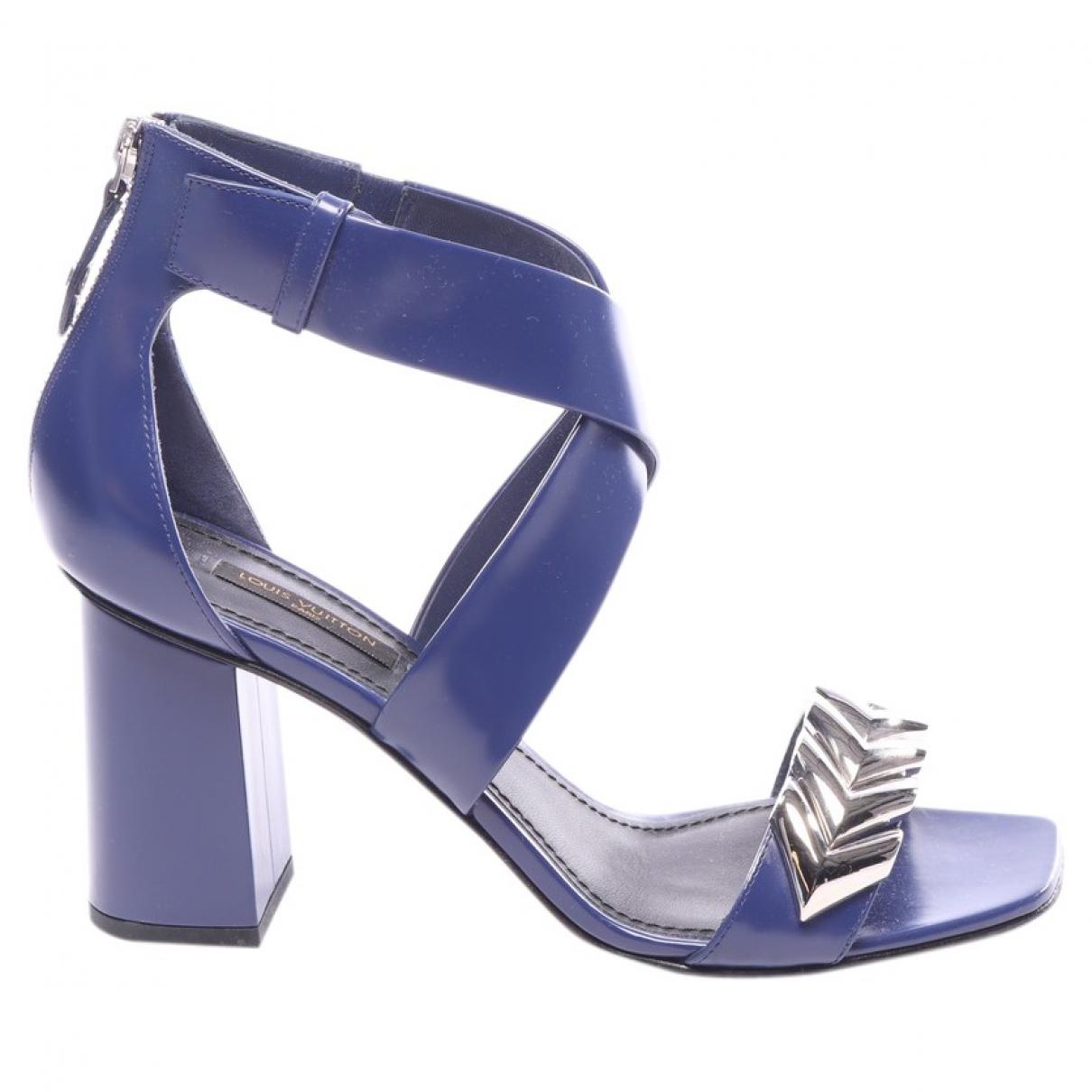 Louis Vuitton \N Sandalen in  Blau Leinen