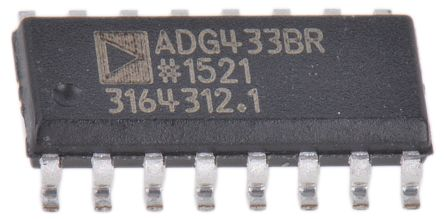 Analog Devices ADG433BRZ , Analogue Switch Quad SPST, 12 V, 16-Pin SOIC