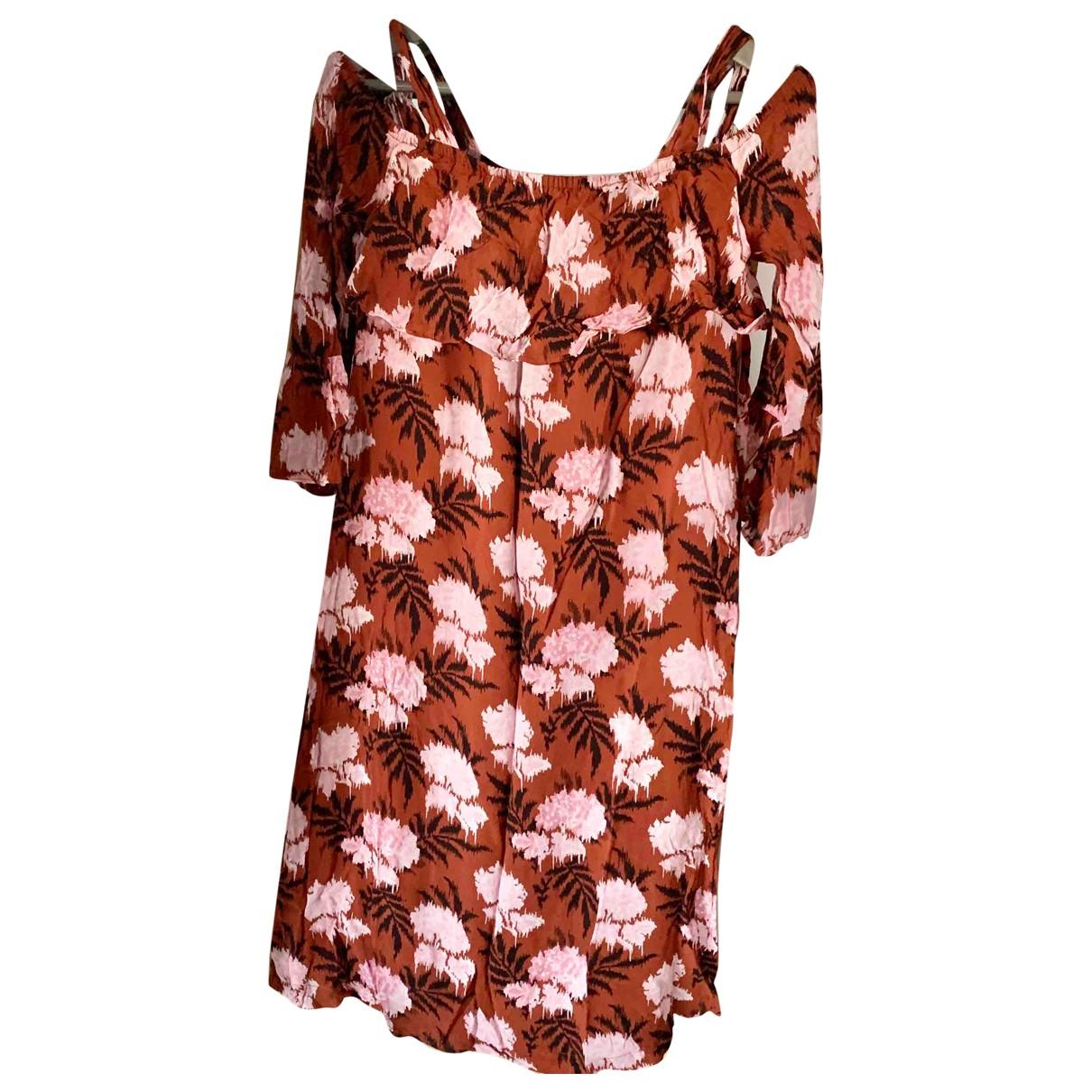 Ganni \N Kleid in  Orange Viskose