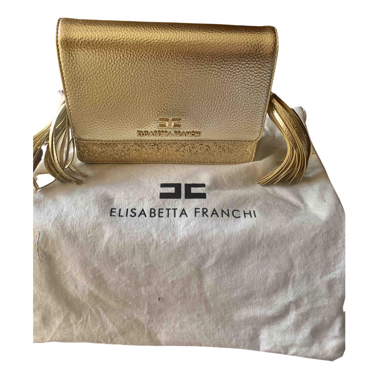 Elisabetta Franchi \N Clutch in  Gold Leder