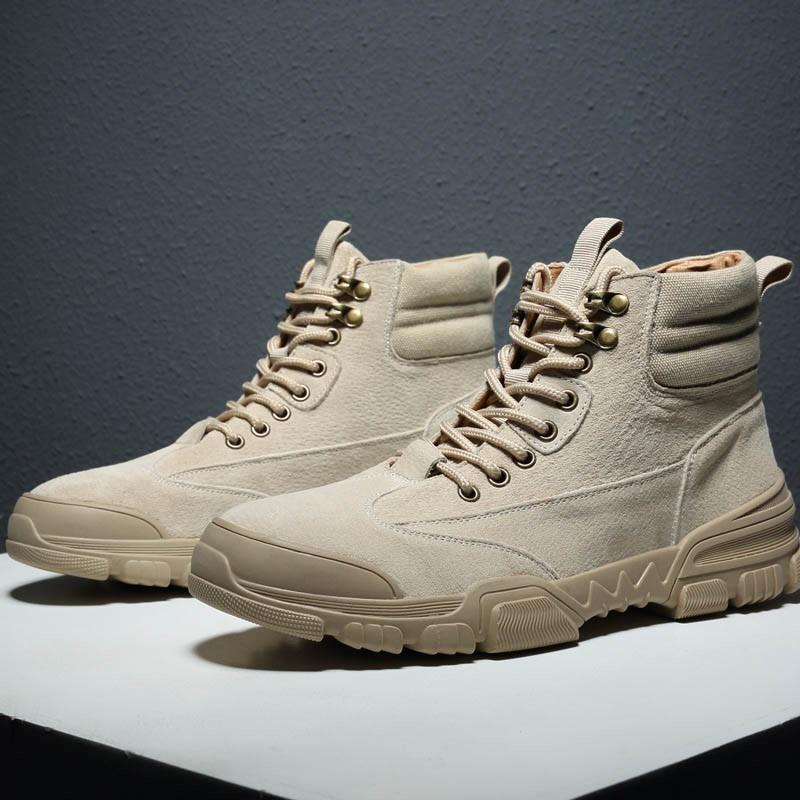Ericdress Round Toe Lace-Up Front Plain Men's Boots