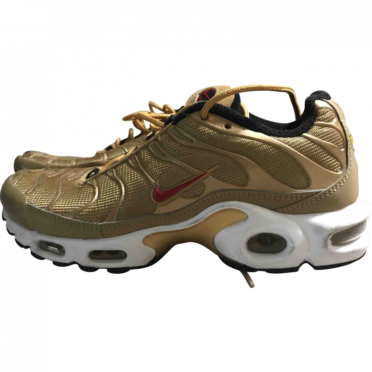Nike Tuned 1 Gold Cloth Trainers for Men 40.5 EU