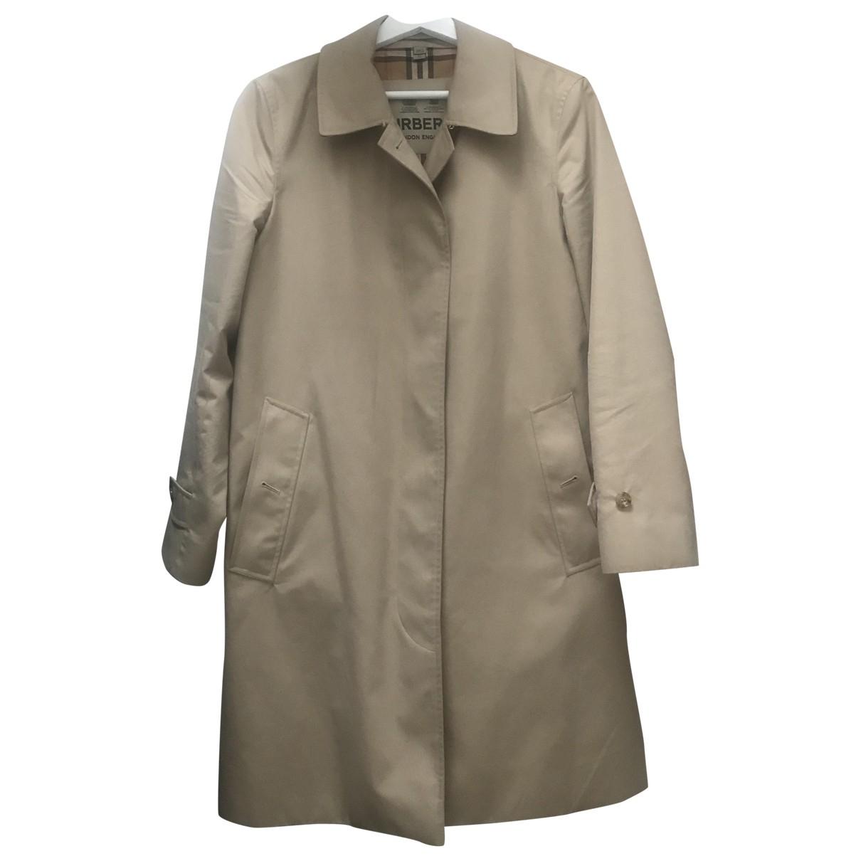 Burberry - Manteau   pour femme en coton - camel