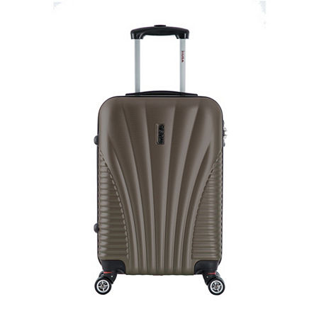 InUSA Chicago Lightweight Hardside Spinner 21 Inch Carry-On Luggage, One Size , Brown