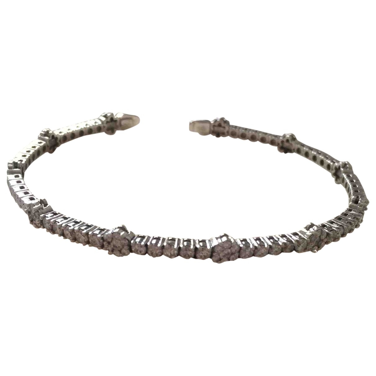 Non Signé / Unsigned \N White gold bracelet for Women \N