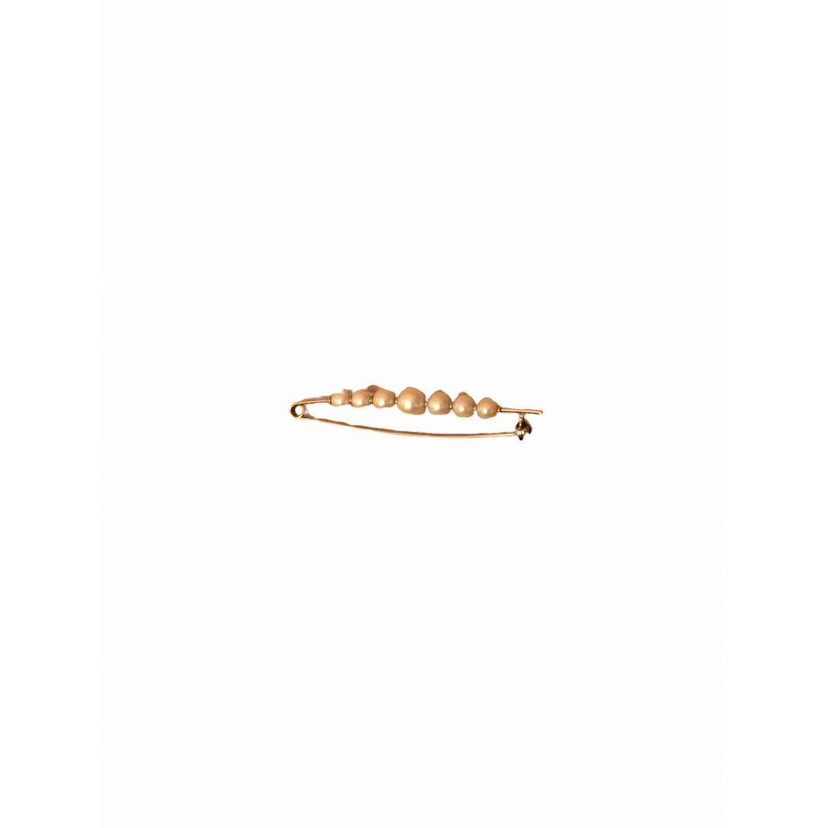 Broche Nacre de Oro blanco Non Signe / Unsigned