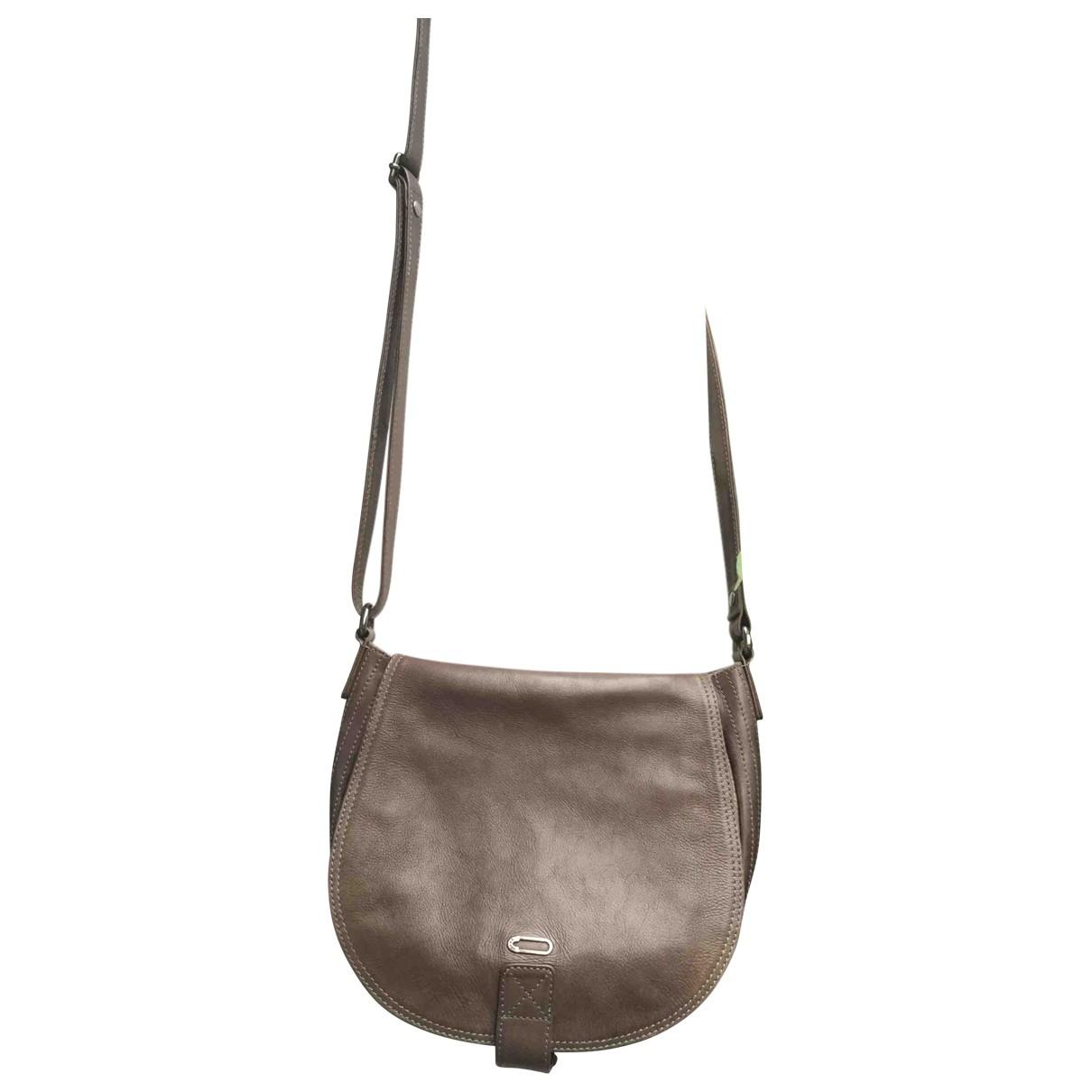 Ikks N Brown Leather handbag for Women N