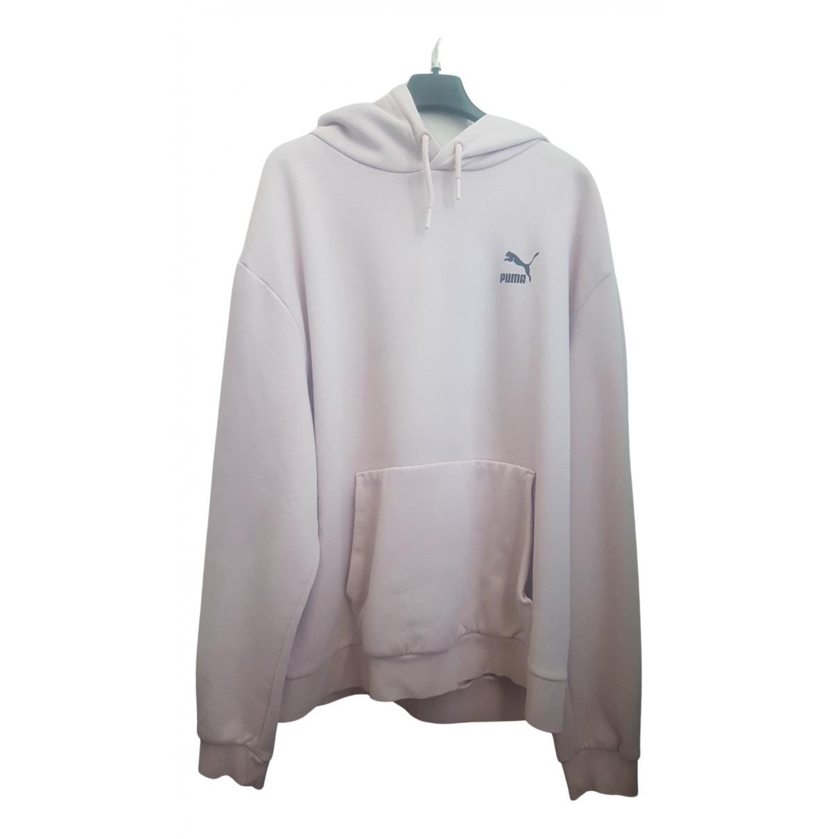 Puma \N Pullover.Westen.Sweatshirts  in  Rosa Baumwolle