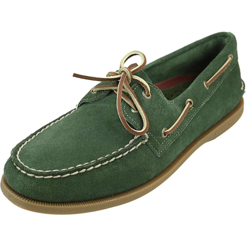Sperry Men's Av0 2-Eye Olive Ankle-High Leather Boating - 12M