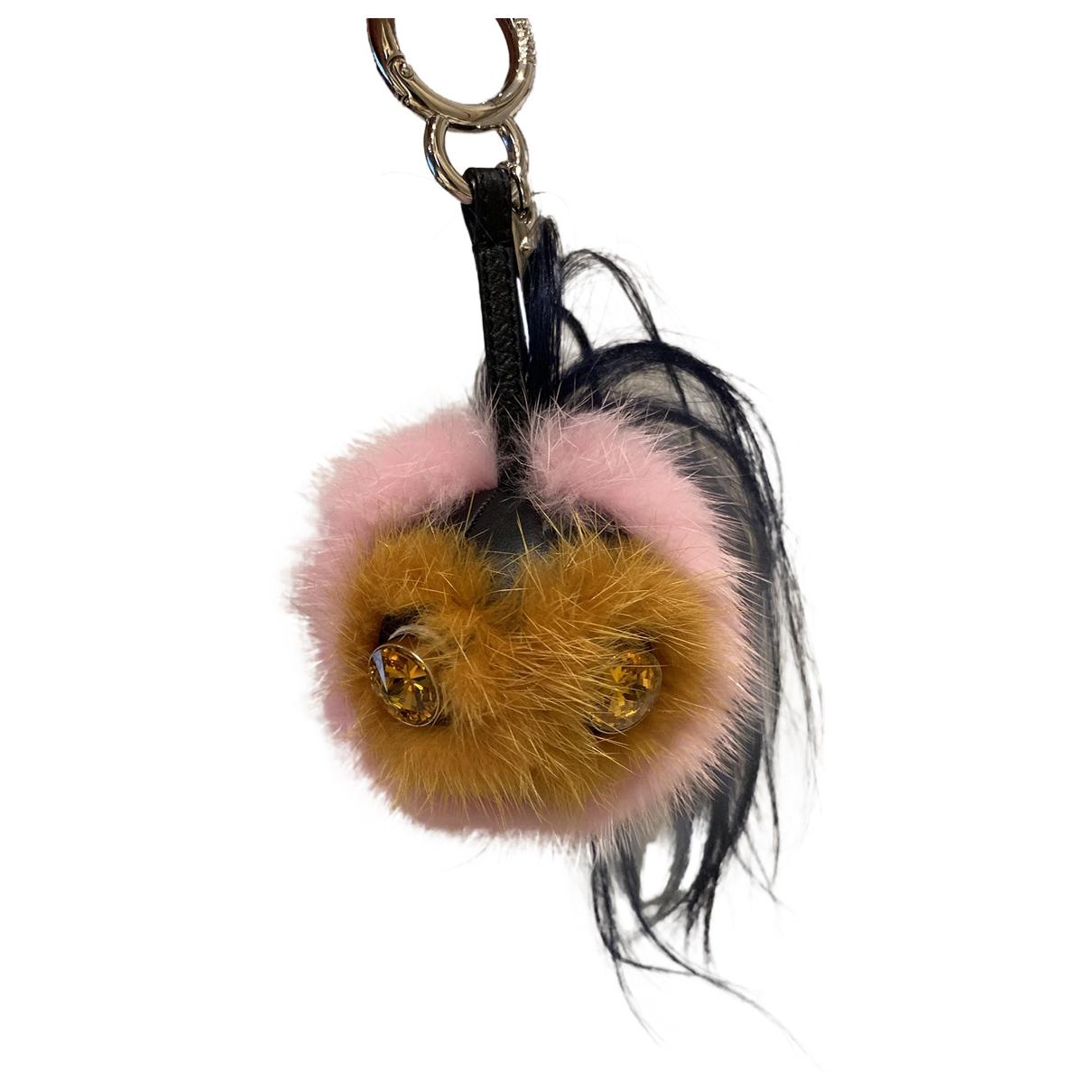 Fendi Bag Bug Taschenschmuck in  Rosa Nerz