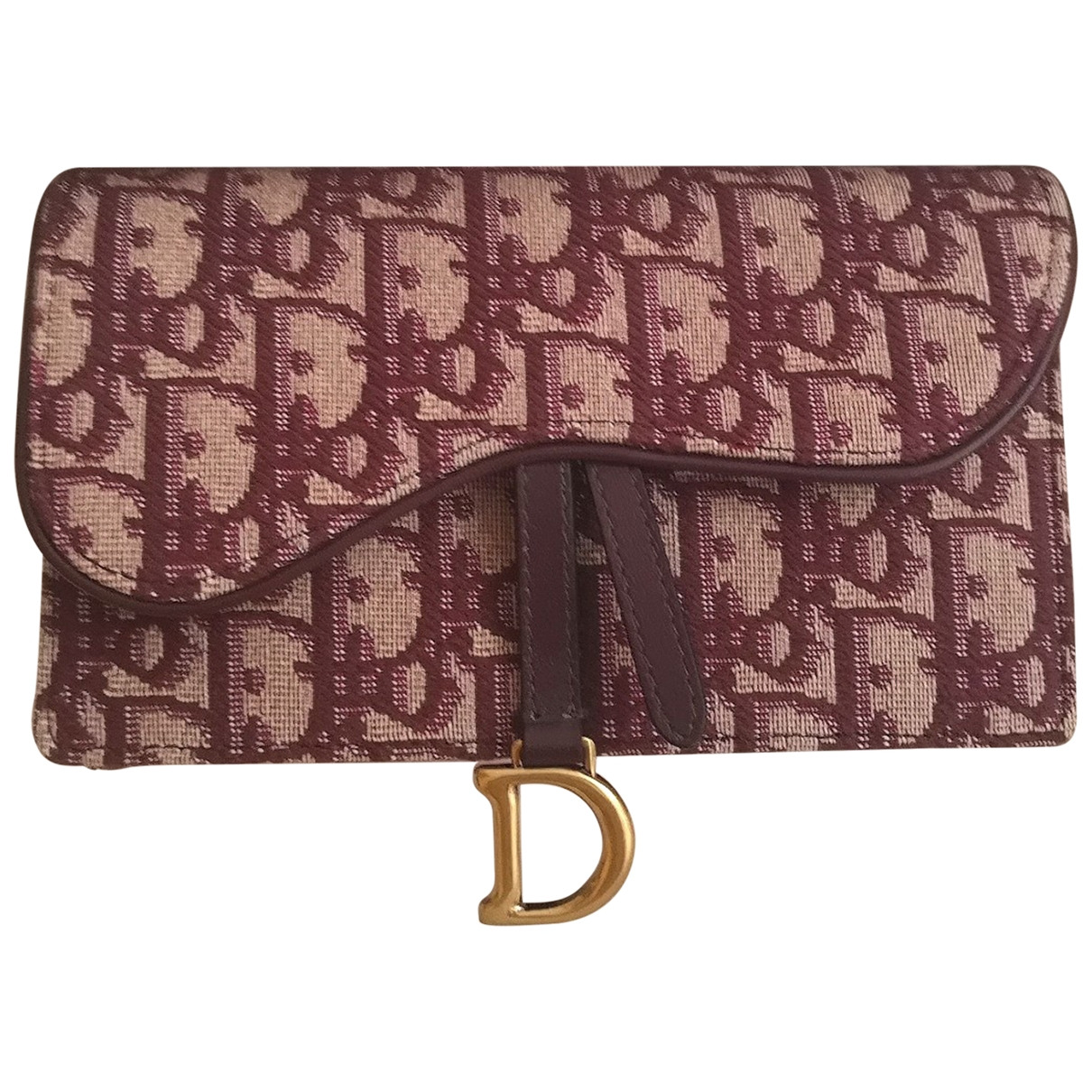 Dior Saddle Burgundy Cloth Clutch bag for Women \N