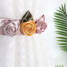 1 Pack Vorhang Raffhalter mit Rose Dekor