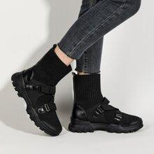 Botas calcetin con hebilla