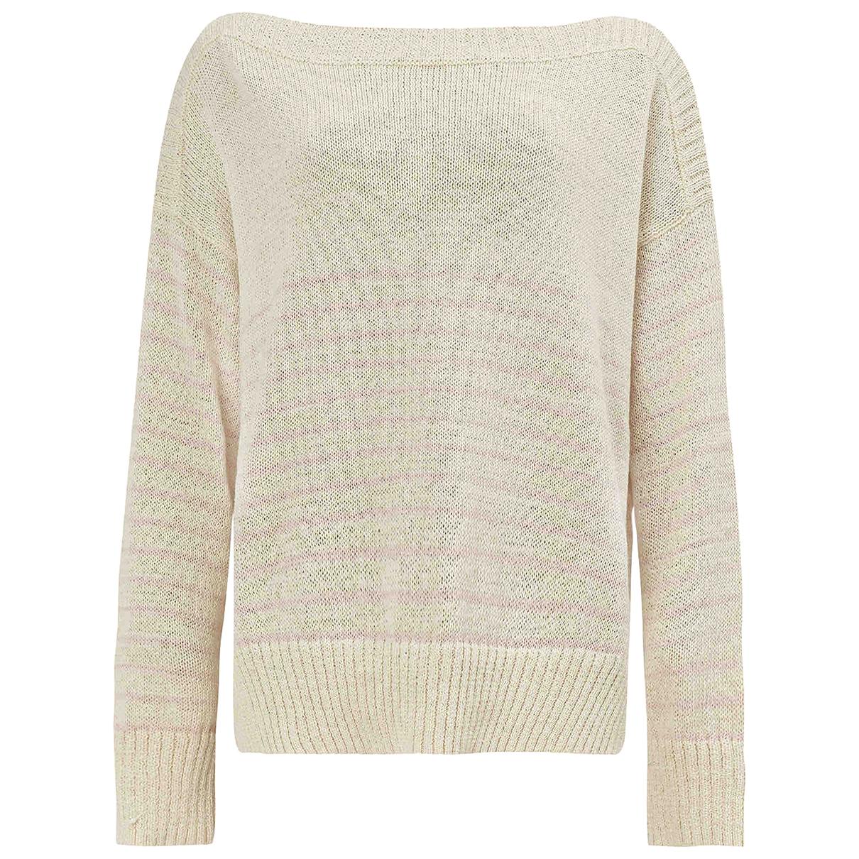 All Saints - Pull   pour femme en coton - beige