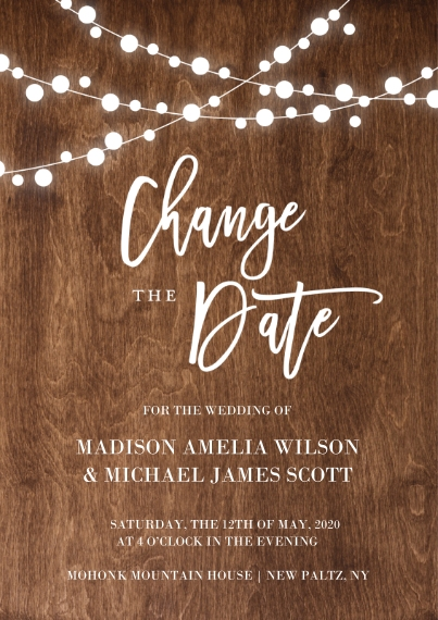 Change the Date Mail-for-Me Premium 5x7 Flat Card, Card & Stationery -Change the Date Lights by Tumbalina