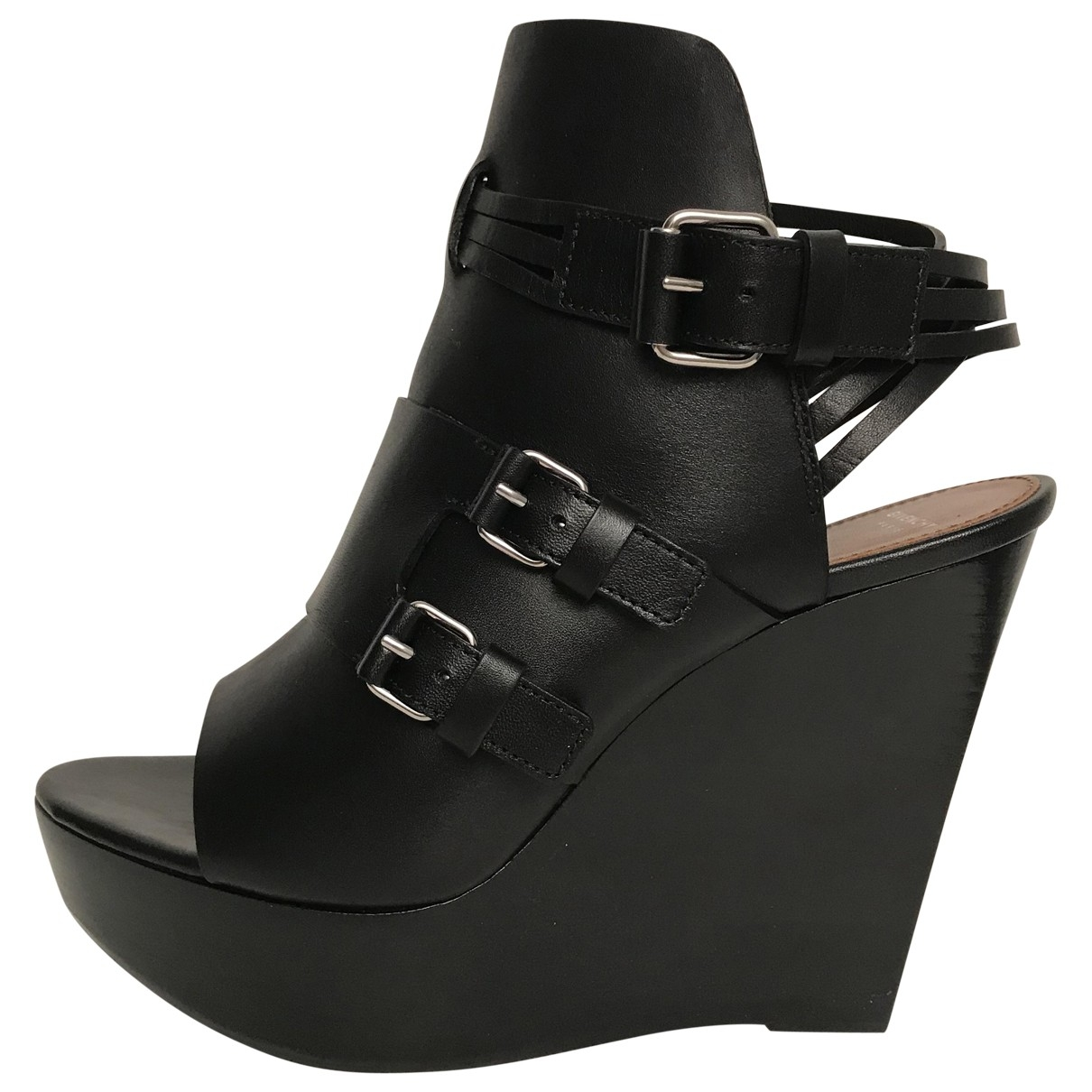 Givenchy \N Black Leather Sandals for Women 36.5 EU