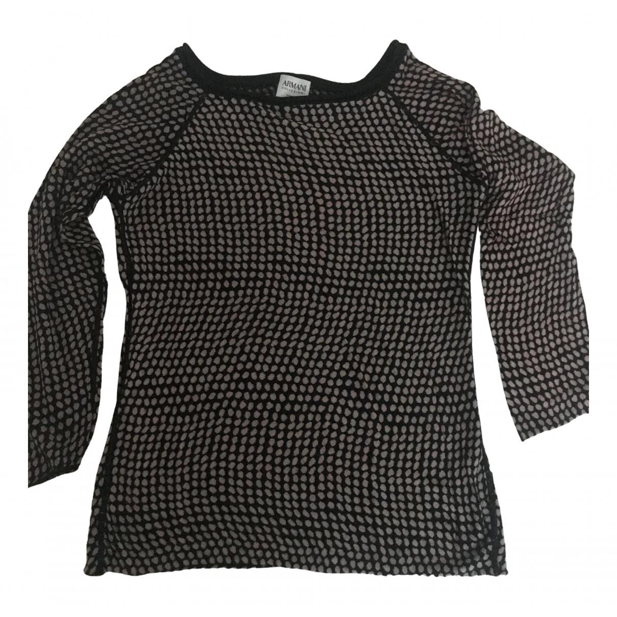 Armani Collezioni N Black Cotton  top for Women 36 IT
