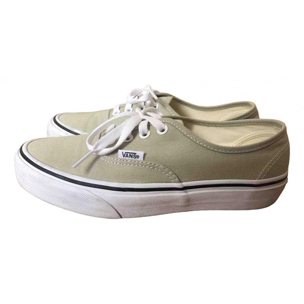Vans \N Sneakers in  Khaki Leinen