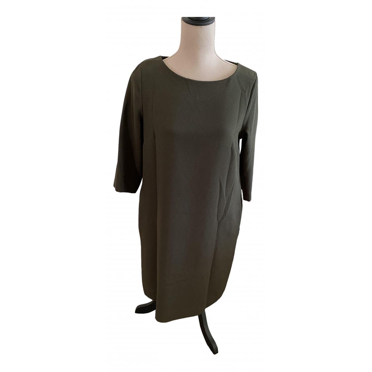 Ottodame \N Kleid in  Khaki Polyester