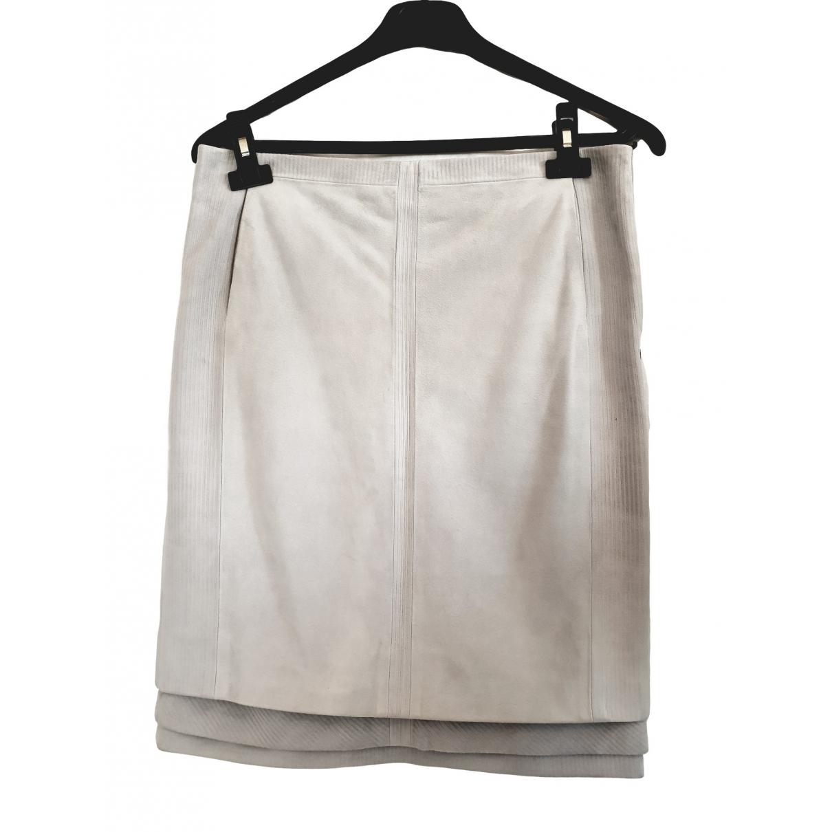 Loewe \N Grey Suede skirt for Women 40 FR