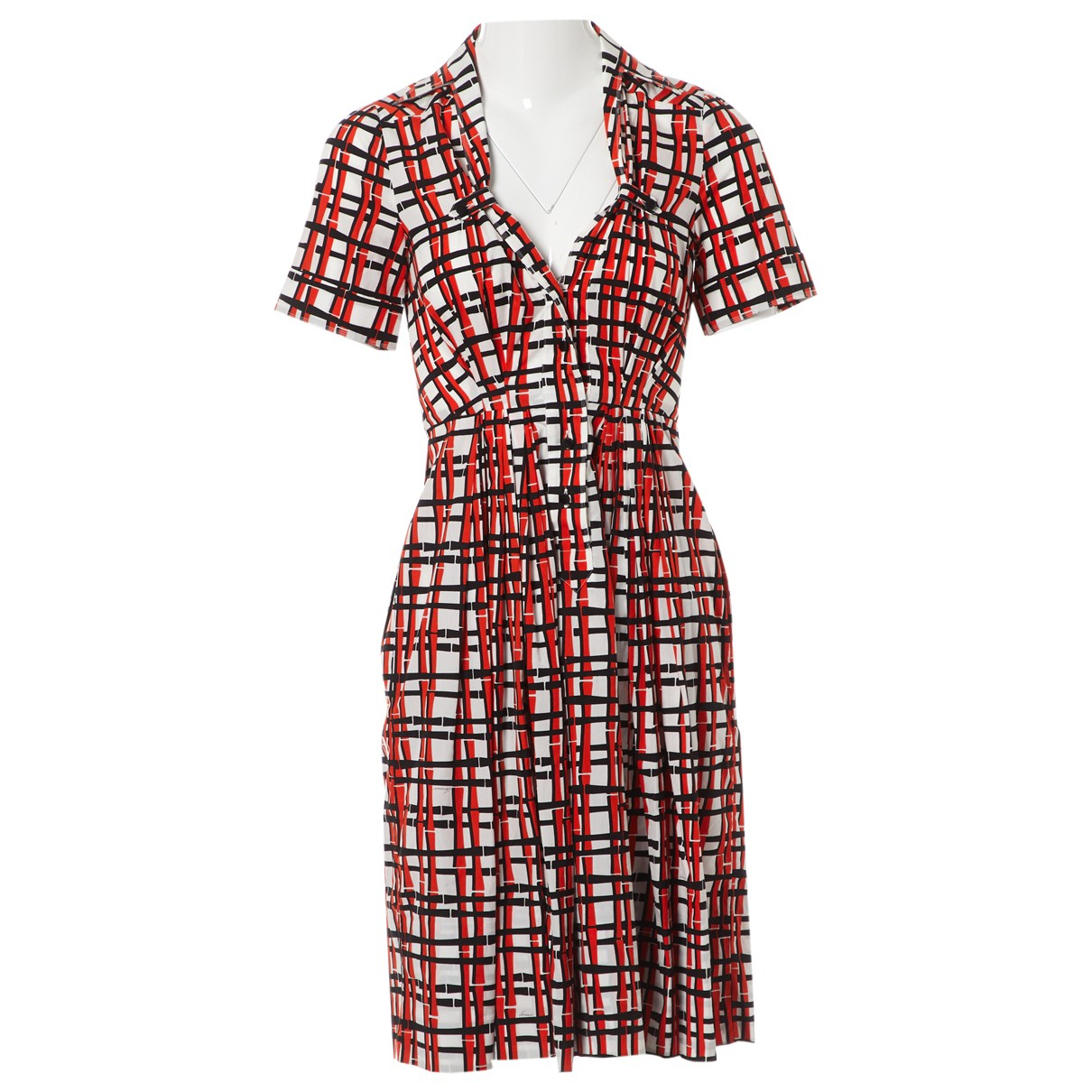 Gucci \N Red Cotton dress for Women 38 IT