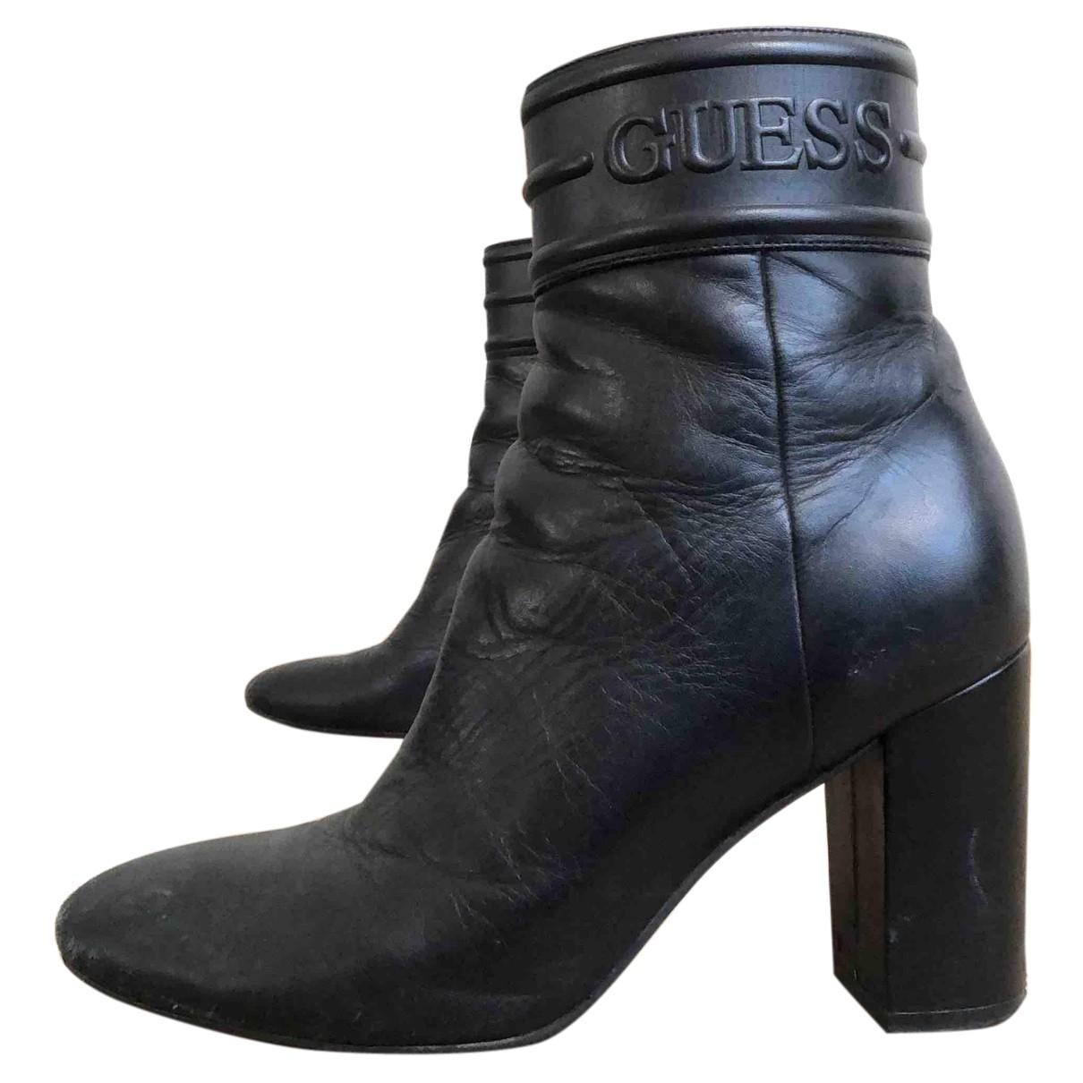 Guess \N Stiefeletten in  Schwarz Leder