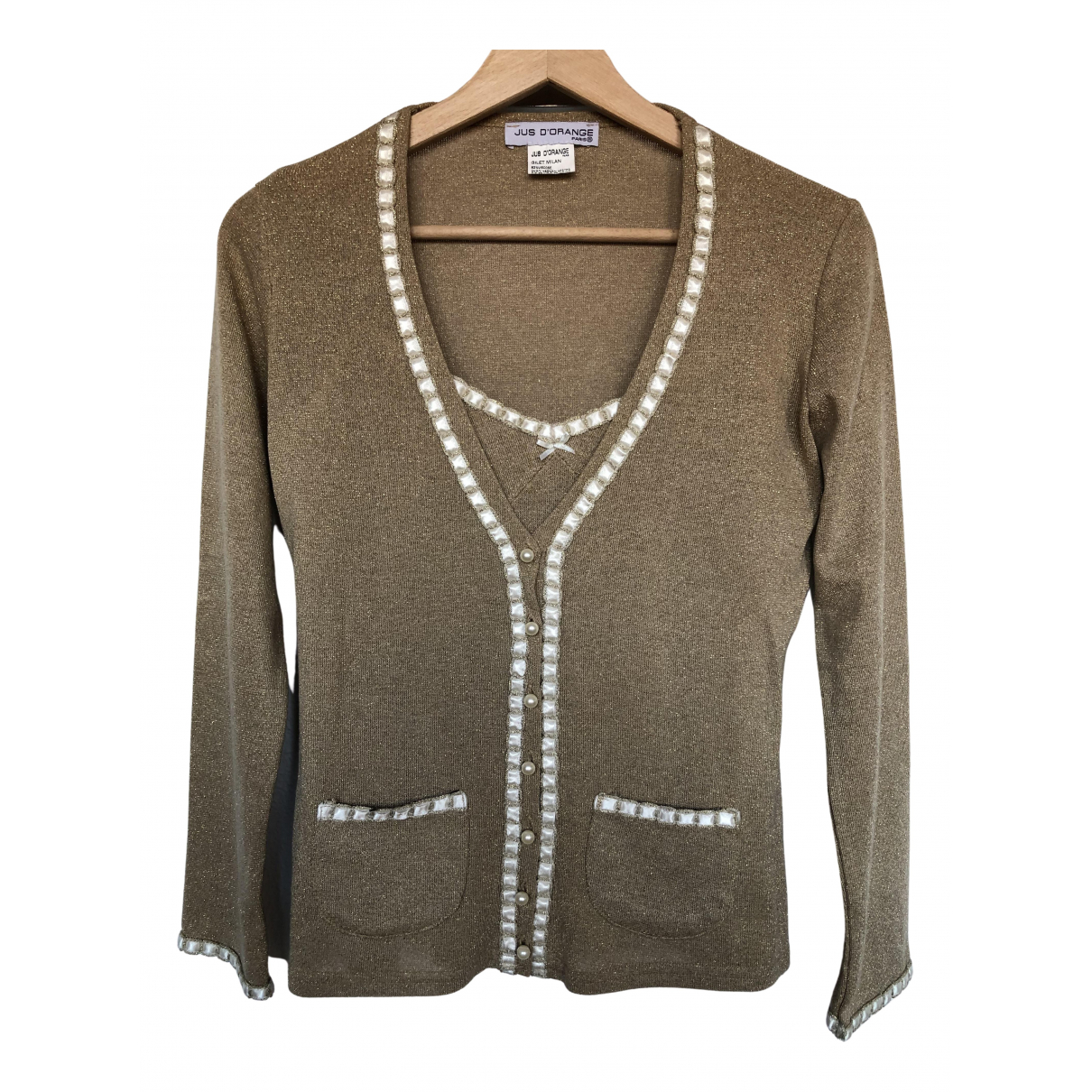 Non Signé / Unsigned N Gold Knitwear for Women One Size FR