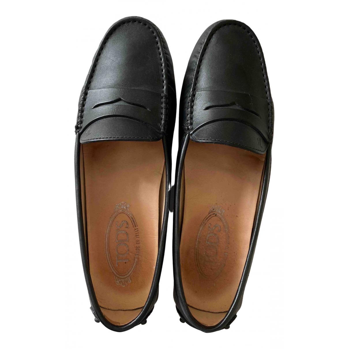 Tods - Mocassins Gommino pour femme en cuir - noir