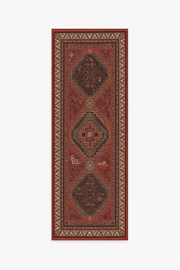 Washable Rug Cover | Zareen Scarlet Red Rug | Stain-Resistant | Ruggable | 2.5'x7'