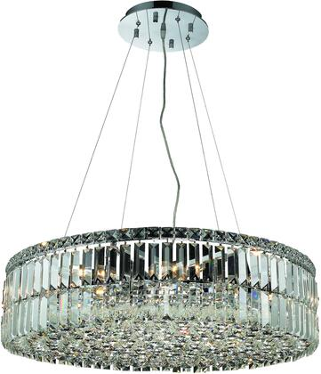 V2030D28C/SS 2030 Maxime Collection Chandelier D:28In H:7.5In Lt:12 Chrome Finish (Swarovski   Elements