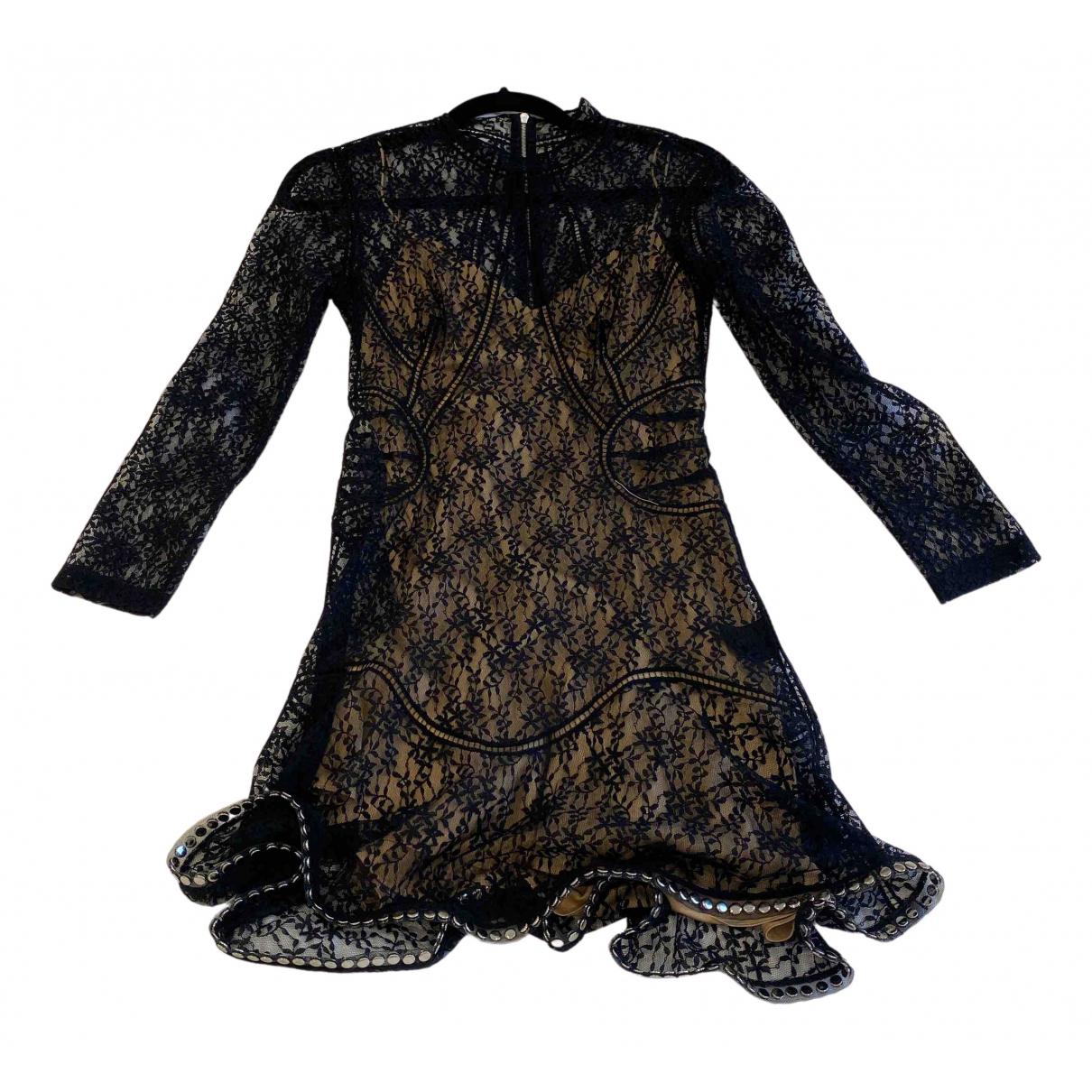 Alexander Wang \N Kleid in  Schwarz Seide