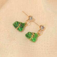 Rice Dumpling Charm Drop Earrings