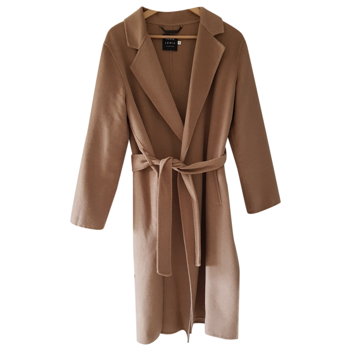 John Lewis \N Camel coat for Women 10 UK