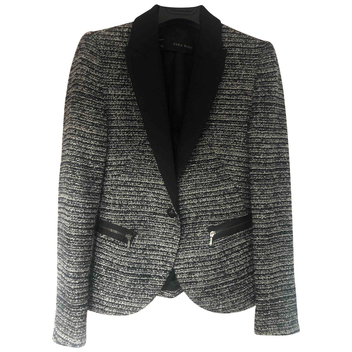 Zara \N Jacke in  Grau Tweed