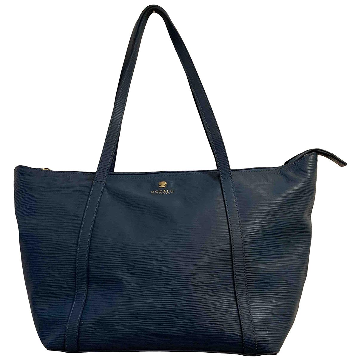 Modalu - Sac a main   pour femme en cuir - bleu