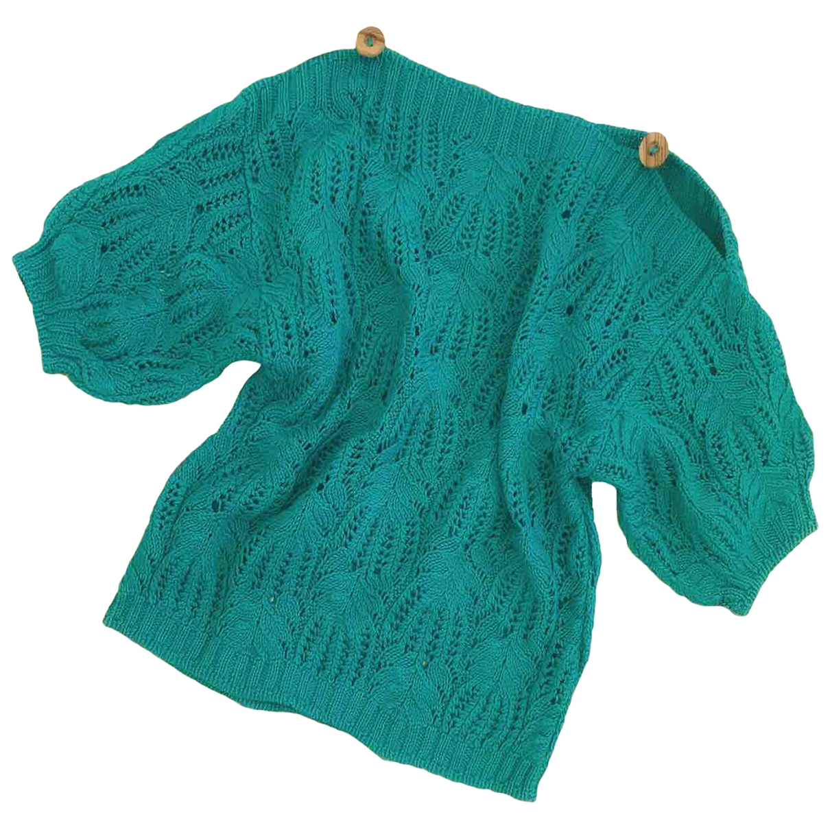 Non Signé / Unsigned \N Green Cotton Knitwear for Women One Size IT
