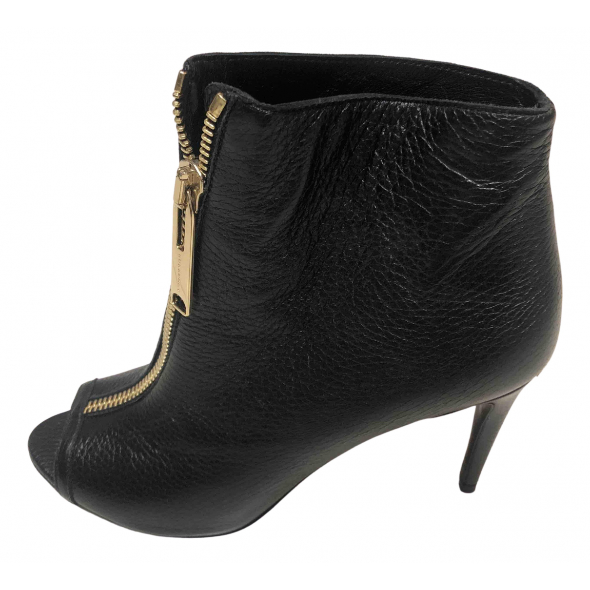 Burberry N Black Leather Ankle boots for Women 40 EU