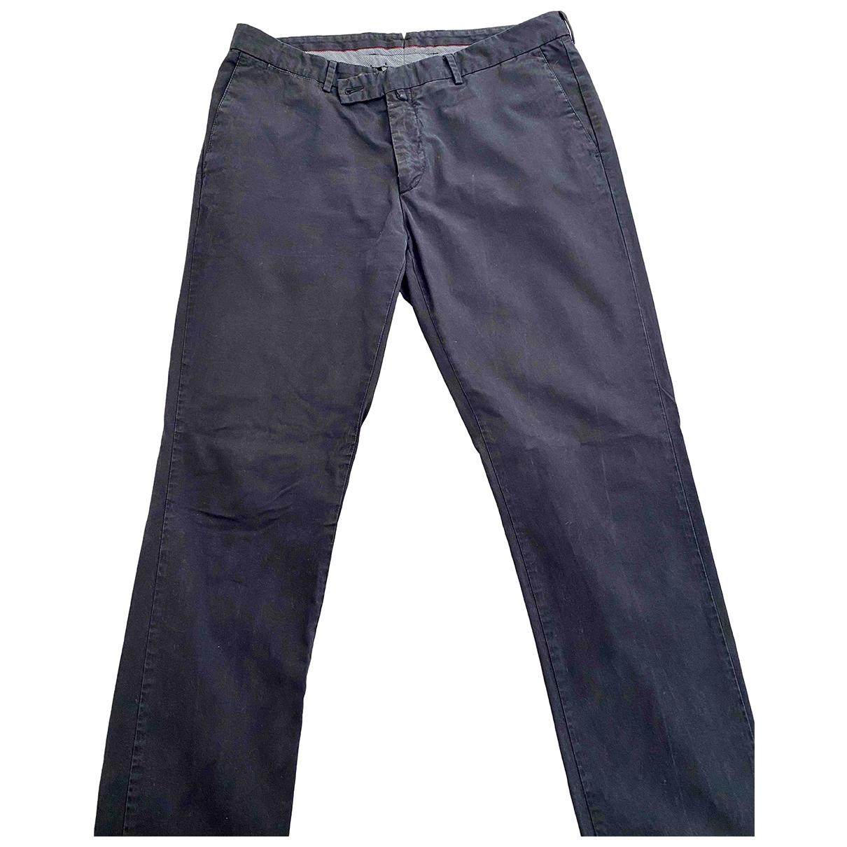 Hackett London \N Navy Cotton Trousers for Men 38 UK - US