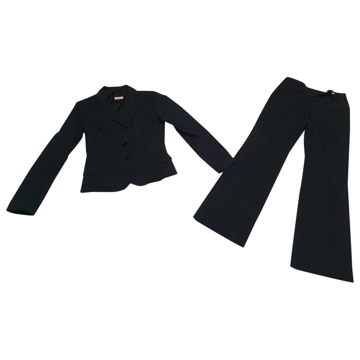 Max & Co \N Kleid in  Schwarz Baumwolle