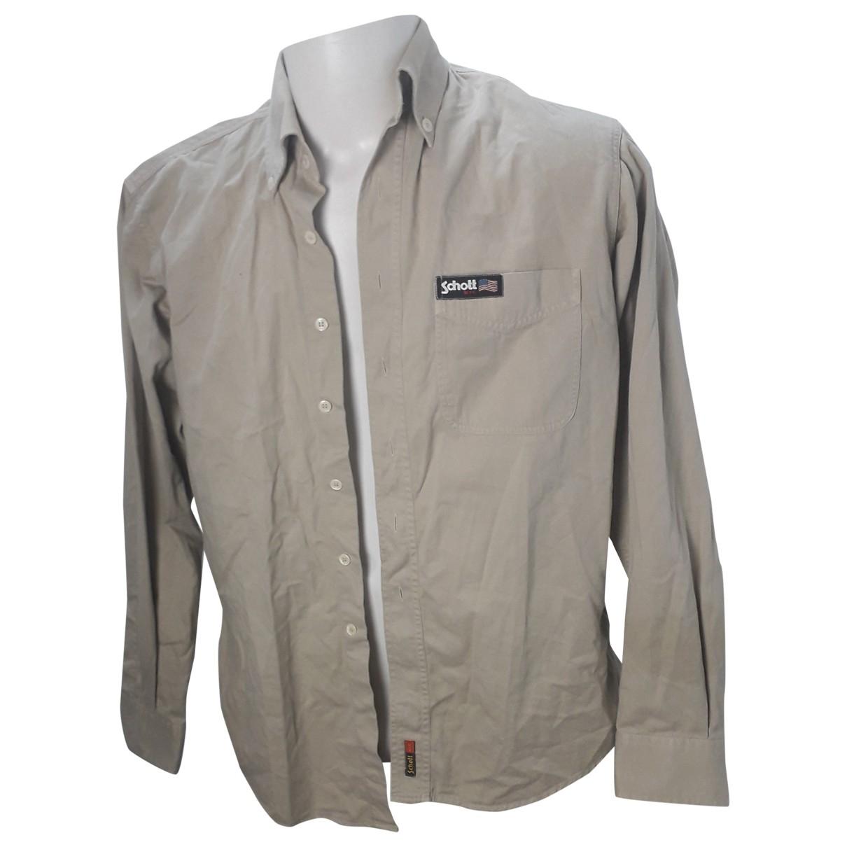 Schott \N Hemden in  Beige Baumwolle