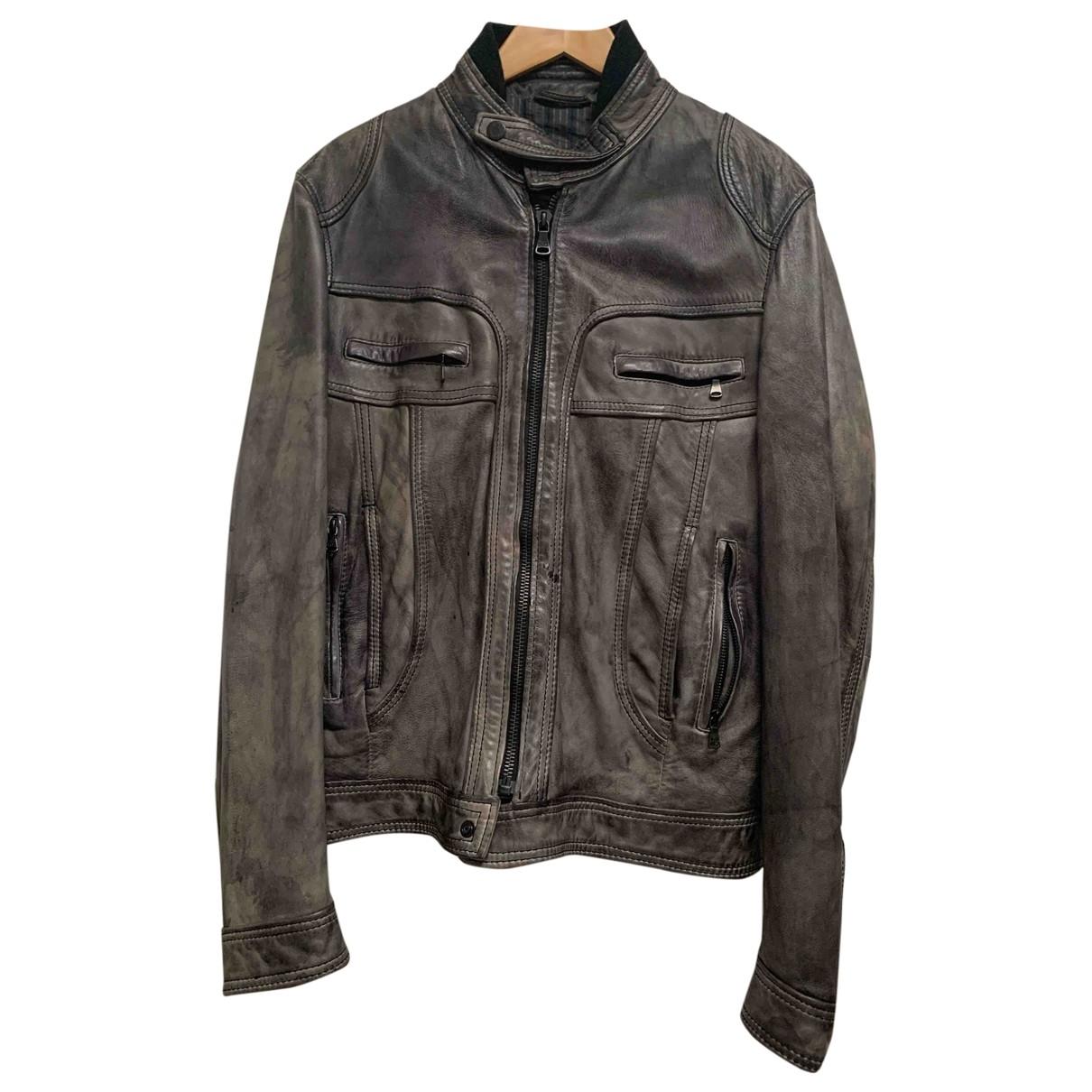 D&g \N Grey Leather jacket  for Men 52 IT